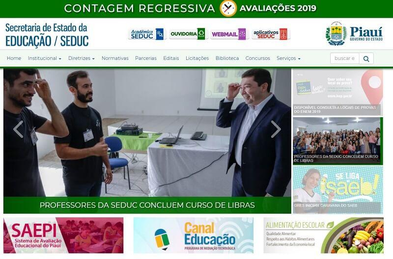 Inscrição Matrícula Online Piauí 2021