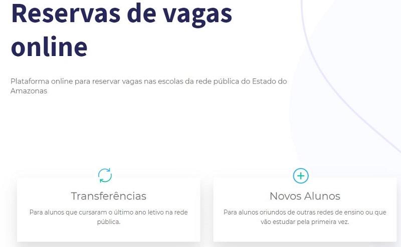 Inscrição Matrícula Manaus AM 2020
