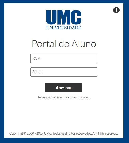 Como acessar o portal do aluno UMC