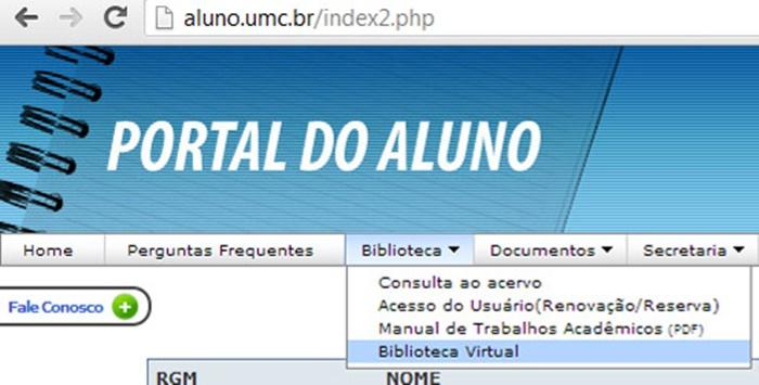 Portal do Aluno UMC