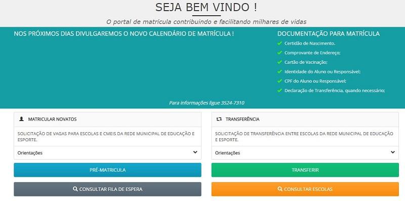 Como fazer matrícula escolar Goiânia 2021