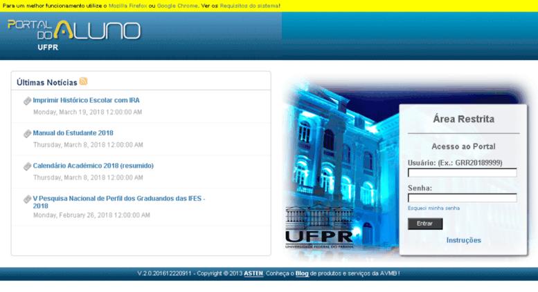 Portal do Aluno UFPR